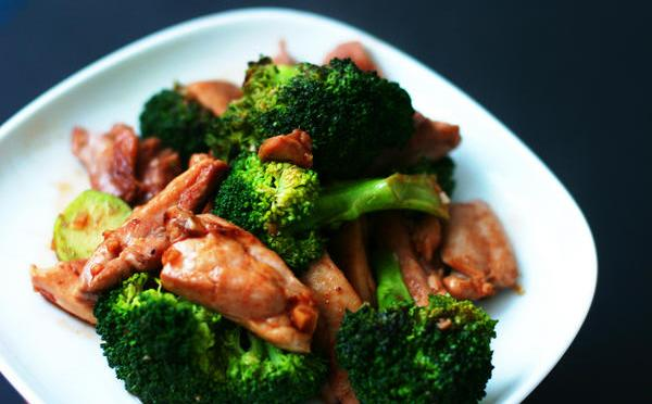 Chicken and broccoli-healthy eating.